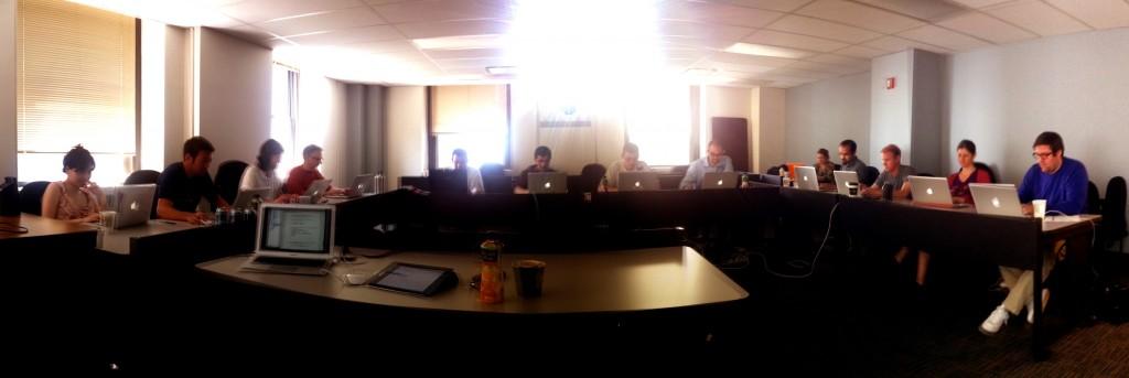 CreativeJS workshop room