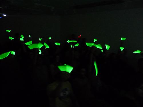 Glow stick voting!