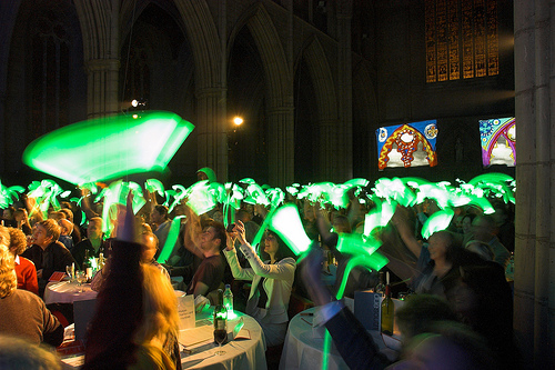 Glowstick voting at the DIMA:s