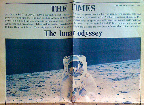 The Times Apollo 11 commemorative issue.