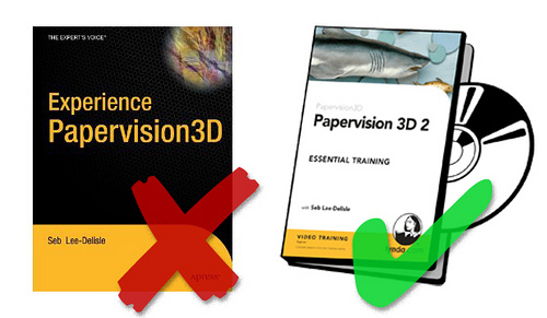 Mythical Papervision3D book