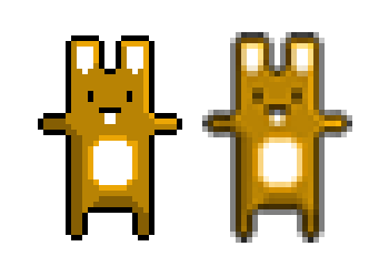 Whole pixel vs sub-pixel bunny
