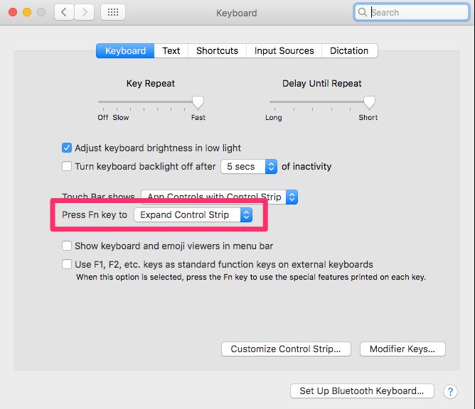 "Keyboard shortcut for ""Mirror Displays"" on Touchbar MacBook"