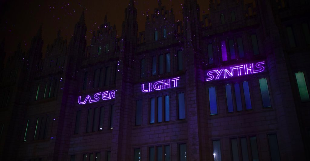Laser Light Synths projection