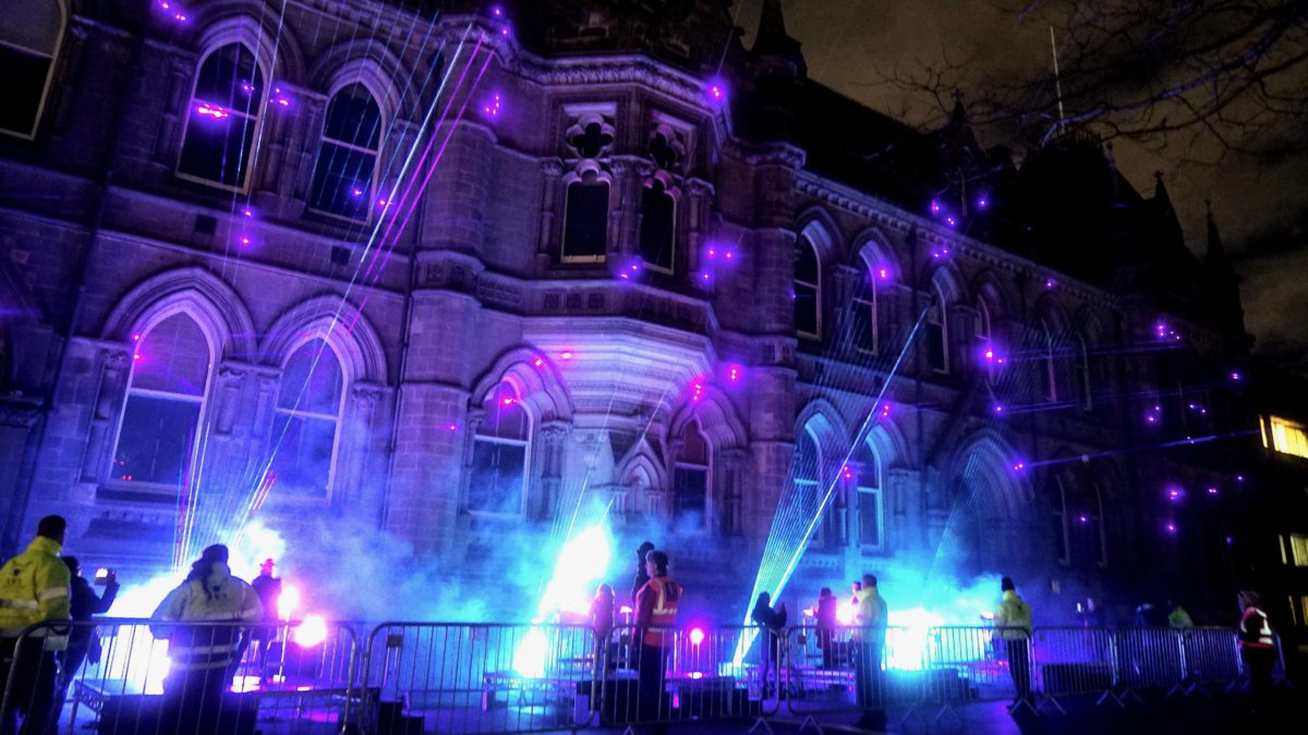Laser Light Synths at Middlesbrough Town Hall