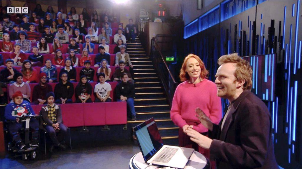 Seb and Hannah Fry at the RI Christmas Lectures